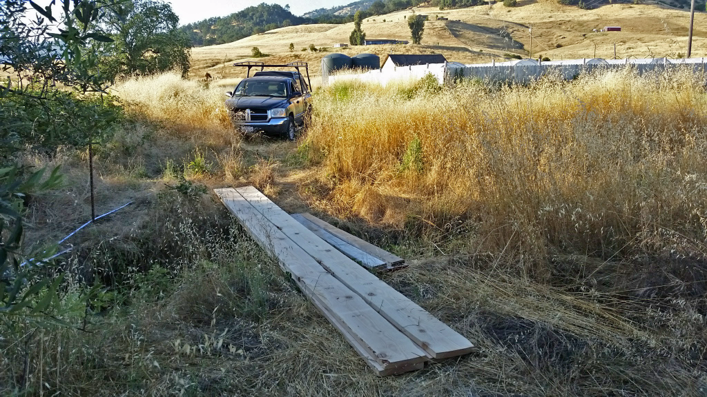 planks crossing a ditch